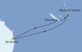 Itinéraire de la croisière Australie 2020 8 jours à bord du