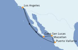Itinéraire de la croisière Riviera Mexicaine 8 jours à bord du Discovery Princess