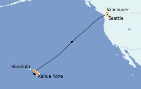 Itinéraire de la croisière Hawaii 11 jours à bord du Ovation of the Seas