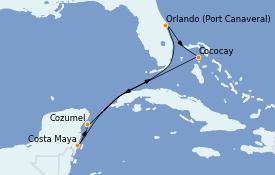 Itinéraire de la croisière Caraïbes de l'Ouest 7 jours à bord du Jewel of the Seas