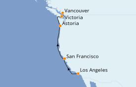 Itinéraire de la croisière Canada 7 jours à bord du Emerald Princess