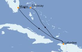 Itinéraire de la croisière Bahamas 6 jours à bord du Explorer of the Seas