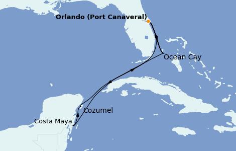 Itinéraire de la croisière Caraïbes de l'Est 10 jours à bord du MSC Divina