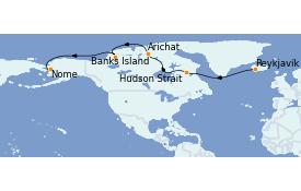 Itinéraire de la croisière Exploration polaire 25 jours à bord du Le Commandant Charcot