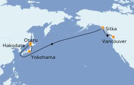 Itinéraire de la croisière Transatlantiques et Grands Voyages 2019 17 jours à bord du Celebrity Millenium
