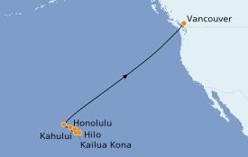 Itinéraire de la croisière Hawaii 11 jours à bord du