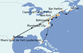 Itinerario de crucero Canadá 12 días a bordo del Silver Wind