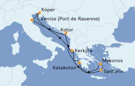 Itinéraire de la croisière Grèce & Adriatique 9 jours à bord du Rhapsody of the Seas