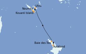 Itinerario de crucero Australia 2022 11 días a bordo del Le Soléal
